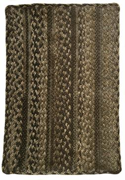 Capel Rugs Affinity Wool Blend Brown Multi Braided Rectangle