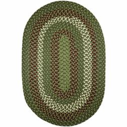 Area Rugs Braided Rug Country Cottage Farmhouse in green cra