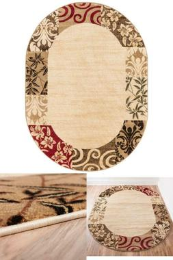 Barclay Vane Willow Damask Beige 5 Ft. X 7 Ft. Transitional