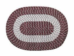 Bedroom Living Room Accent Rugs Transitional Braided Oval Ru