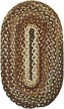 Capel Rugs Berkshire Country Cottage Braided Oval Area Rug H