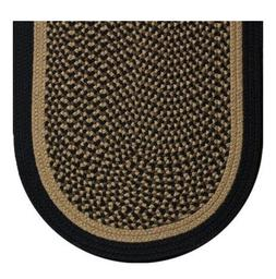 BLACK AND TAN BRAIDED COUNTRY AREA RUGS By COLONIAL RUG--MAN