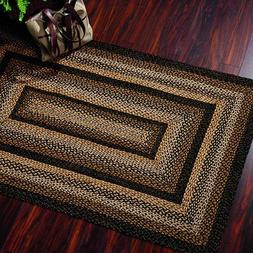 Black Forest Braided Area Rug By IHF Rugs. Oval & Rectangle.