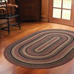 Blackberry Braided Area Rug By IHF Rugs. Oval & Rectangle. M