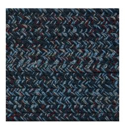 BLUE, BURGUNDY, GRAY BRAIDED AREA RUGS BY COLONIAL RUG--MANY