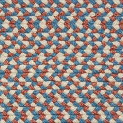 BLUE, ROSE, CREAM COUNTRY BRAIDED AREA RUGS By COLONIAL RUG-