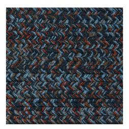 BLUE, RUST, GRAY BRAIDED AREA RUGS BY COLONIAL RUG--MANY SIZ