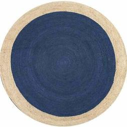 Jute Area Rugs Blue Round Floor Mats Door Durrie Entrance Ra