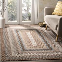 Safavieh Braided Collection BRD313A Hand Woven Brown and Mul