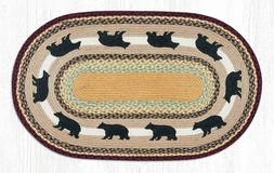 braided jute painted stenciled oval area rug