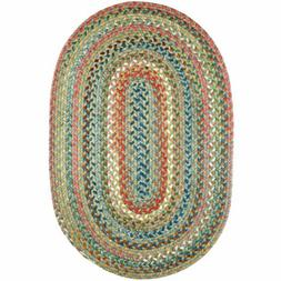 Super Area Rugs Braided Rug Country Cottage Farmhouse in gre