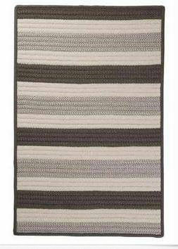 Colonial Mills Braided Rugs in Silver Stripes Striped Outdoo