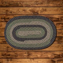 BROOK FARM BLUE STONE BRAIDED AREA RUG & RUNNER By COLONIAL