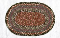 Burgundy/Blue/Gray Braided Rug Collection - Capitol Earth RU