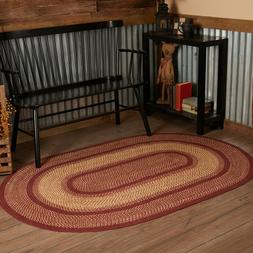 VHC Burgundy Red Eco-Friendly Natural Jute Primitive Country
