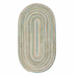 Capel Rugs Braided Alliance Moonstone Cotton Area Rug - 7' x