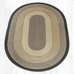 Chocolate/Natural Oval Braided Rug