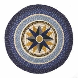 """Compass Round Patch Rug 27"""" x 27"""" by Earth Rugs RP-350"""