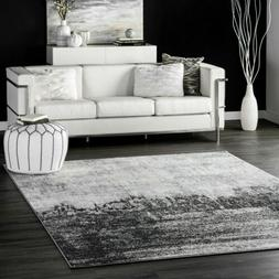 nuLOOM Contemporary Modern Abstract Area Rug in Black, Grey,