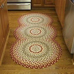 Park Designs Cotton Braided Area Rug Red Green