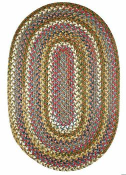 Country Jewel Textured Nylon Variegated Cottage Braided Area