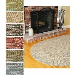 Cozy Cove Indoor/Outdoor Oval Braided Rug  by Rhody