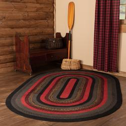 Cumberland Red Black Natural Jute Country Cottage Farmhouse