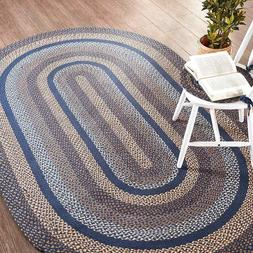 Denim Braided Area Rug By IHF Rugs. Oval & Rectangle. Many S