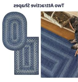 Denim Jute Braided Area Rug By Homespice Decor. Choose Your