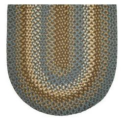 DOVE GRAY BASKET WEAVE BRAIDED AREA RUG. MANY SIZES AVAILABL