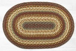 Earth Rugs Oval Taupe/Golden Rod/Terracotta Braided Rug Set