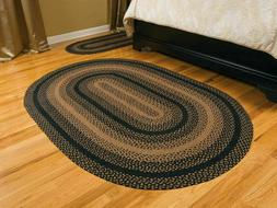 Ebony Braided Area Rug By IHF Rugs. Oval & Rectangle. Many S