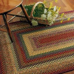 FARMHOUSE COUNTRY PRIMITIVE NEVERLAND COTTON BRAIDED RUG ~ M