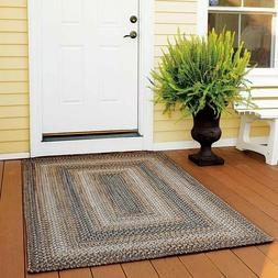 FARMHOUSE COUNTRY PRIMITIVE RUSTIC ULTRA DURABLE BRAIDED RUG