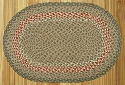 Green/Burgundy Oval Braided Rug Collection - Capitol Earth R