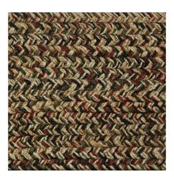 GREEN, RED, BLACK, BROWN BRAIDED AREA RUGS BY COLONIAL RUG--