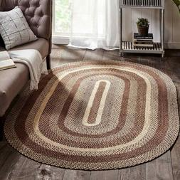 Gristmill Braided Area Rug By IHF Rugs. Oval & Rectangle. Ma