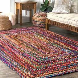 The Curated Nomad Grove Handmade Braided Cotton Area Rug