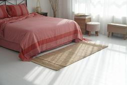 Handwoven Natural Jute and Seagrass Area Rug Braided Rag Rug