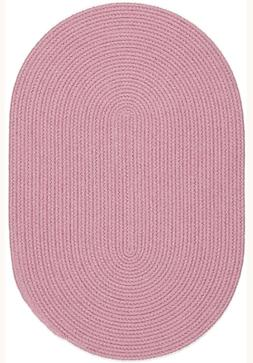Happy Braids Bright Pink Solid Kids Play Space Stain Resista