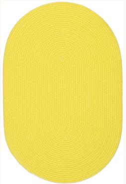 Happy Braids Bright Yellow Solid Kids Play Space Stain Resis