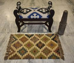Indian Jute 2x3 Feet Out/In Door Mat Multi Color Patchwork S