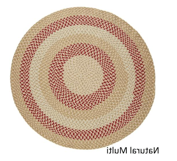 6 ft round indoor outdoor braided area