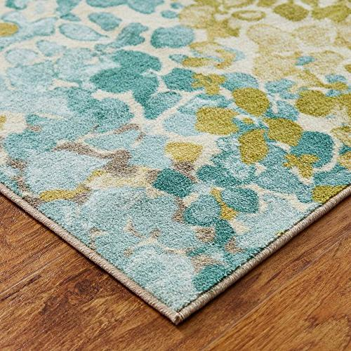 Abstract Floral Rug,