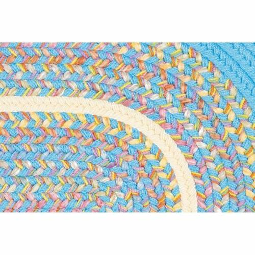 Super Area Rugs Rug Country Cottage Rug in Aqua Banded