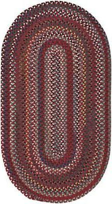 """Capel Rugs """"Bunker Hill"""" Wool Variegated Country Braided Ova"""