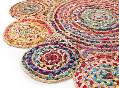 Handmade Cape Braided Red/ Rug x 3' Indian Rugs