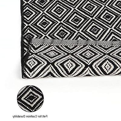 Chiding Rug Geometric Hand Recycled Cotton Reversible