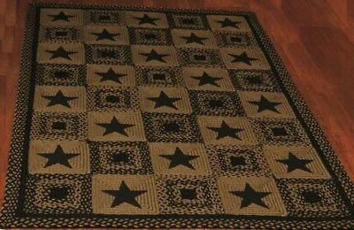 country star jute braided rugs by