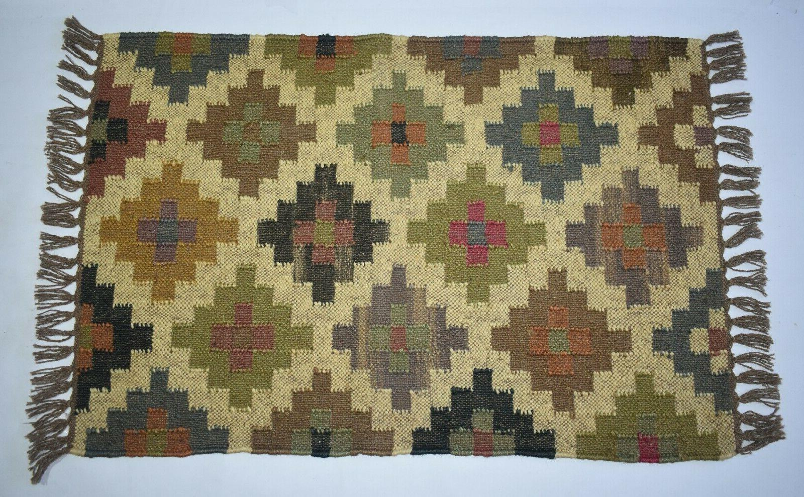 Indian Out/In Door Mat Multi Color Rug
